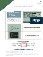 Como Configurar a HP 50 Para Calculo IV
