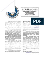 2015 House Notes Week 1