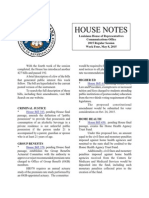 2015 House Notes Week 4