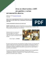 321 Cooperativas en Observación y ASFI Calla