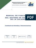 Manual de Funciones Del Sistema de Gestion de Calidad