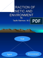 Interaction of Genetic and Environment
