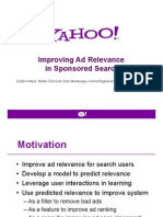 Improving Ad Relevance in Sponsored Search