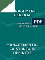 Curs Management General- Eugenia Alecu - 2014