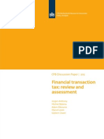 Discussion Paper 202 Financial Transaction Tax Review and Assessment