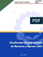 Clasificador Presupuestario 2014-1