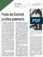 Poeta de Coronel Publica Poemario