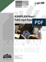 Kamplan phase 1 public input