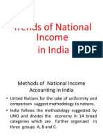 Trends of National Income in India