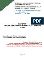Model Structura Referat Manag. Cls. Elevi