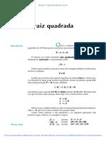 Aula 18 - A raiz quadrada.pdf