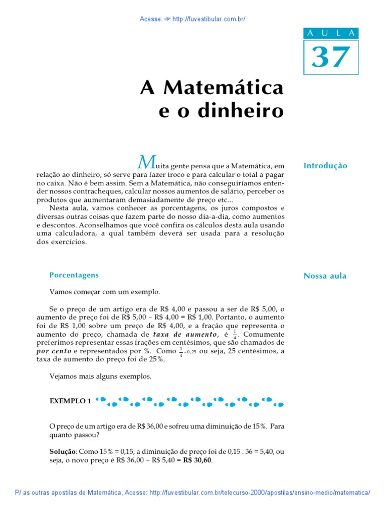 2000 ENSINO MEDIO TELECURSO APOSTILA BAIXAR MATEMATICA