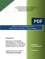 Informe de Laboratorio Nº 2 Pendulo Simple y Resortes