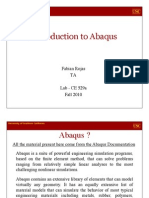 Lab 1 - Introduction to Abaqus - CE529a