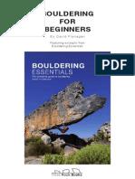 Boulder Ing for Beginners