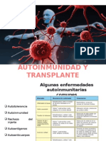 Autoinmunidad y Transplante