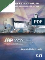 Lateral Loads Manual SAP 17
