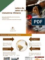 Necesidad de Capital Humano en La Industria Minera