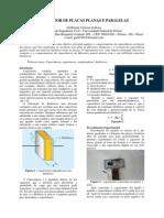 Relatório - Capacitor de placas planas e paralelas