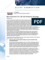 Best Practices for a BI and Analytics