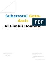 Substratul Geto-dacic Al Limbii Romane