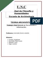 TEORIA ARCHIVISTICA