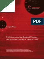 Politica Comerciala a Republicii Moldova Cerinte de Import-export in Comertul Cu UE