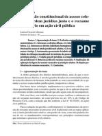 A previsão constitucional de acesso à justiça e o reexame necessário em ação civil pública