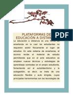 Plataformas de Educación a Distancia