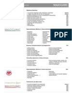 Tabela Malo Clinic Luso Inatel
