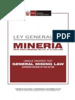 LEY GENERAL en MINERIA