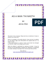 James Allen as a Man Thinketh