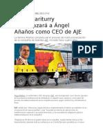 Juan Lizariturry Reemplazará a Ángel Añaños Como CEO de AJE