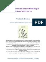 1414 - Prix des lecteurs de la bibliothèque de Petit Mars 2010