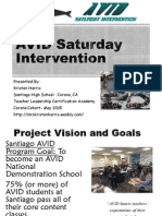 saturday intervention capstone presentation