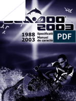1988-2003 SeaDoo Specifications Booklet