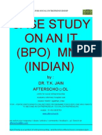 Case Study on an IT(BPO) MNC (Indian)