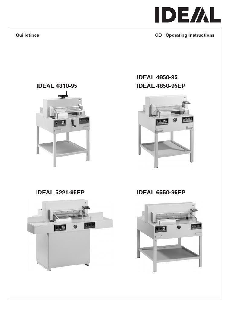 ideal 4850 95 screw electrical connector rh es scribd com Triumph 4810 Paper Cutter TVB 4810