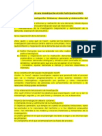 Etapas y Fases de Una Investigación Acción Participativa