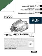 Canon HV20 Manual
