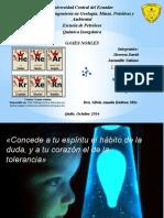 Los Gases Nobles. PPT 2 de Andrés Loja. Química II.