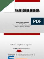 transformación de Energia