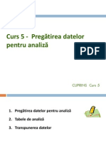 Curs 5 - Pregatirea Datelor