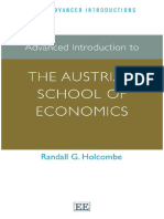 (Elgar Advanced Introductions Series) Randall G. Holcombe-Advanced Introduction to the Austrian School of Economics-Edward Elgar Pub (2014)