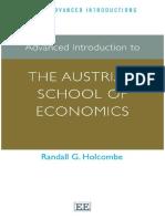(Elgar Advanced Introductions Series) Randall G. Holcombe-Advanced Introduction to the Austrian School of Economics-Edward Elgar Pub (2014)