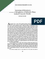 Unger - Minimizing Arbitrariness