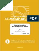 Perez (2006)Dinamica Demografica y Desarrollo Regional en Colombia