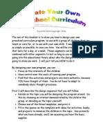 Create Your Own Curriculum PDF