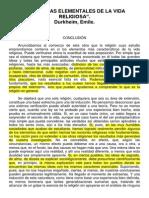 Durkheim-las Formas Elementales de La Vida Religiosa Conclusion