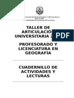 Cuadernillo Ingreso Geografia 2015